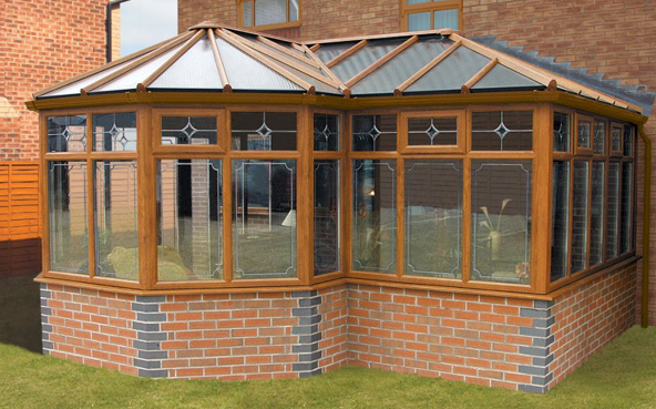 P-Shaped conservatory exterior