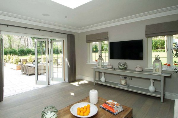 Home extension with french doors