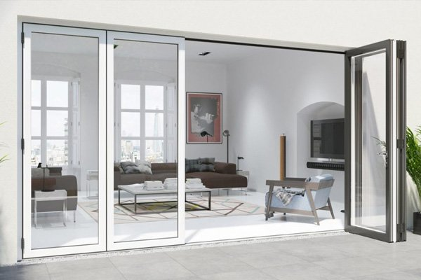 Warmcore bi-folding doors interior