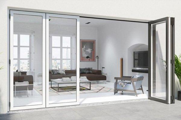 Warmcore bi-folding doors interior
