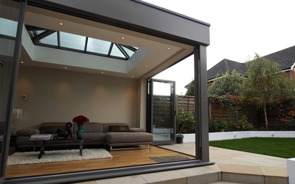 Aluminium conservatory exterior
