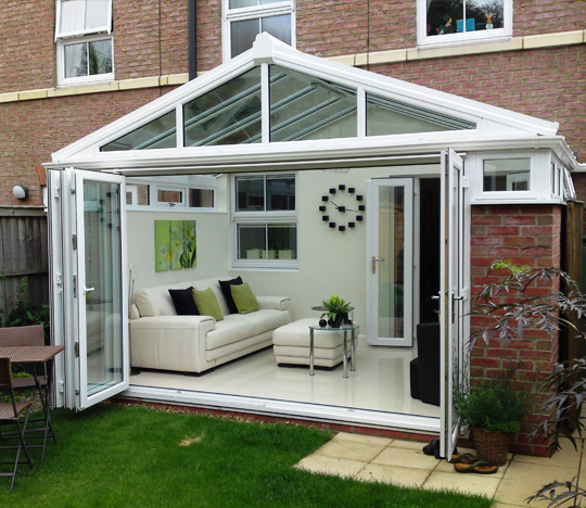 Conservatories synergy windows conservatories for Conservatory doors exterior